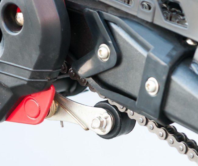 Ролик натяжения цепи на обновленной модели мотоцикла IRBIS TTR 125