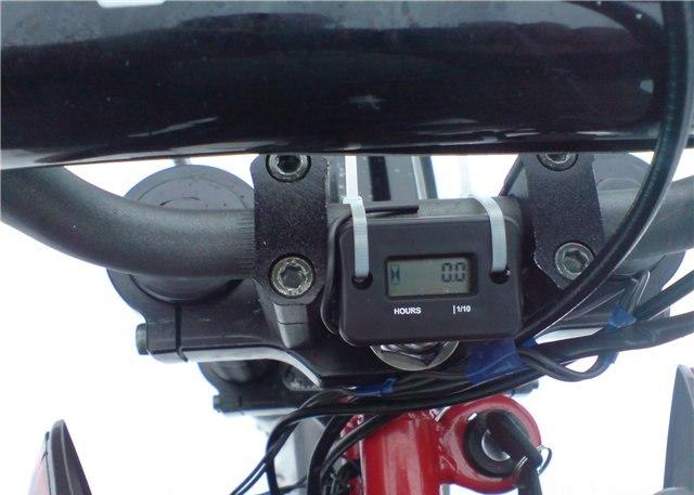 Бортовой компьютер от велосипеда на руле мотоцикла IRBIS TTR 125