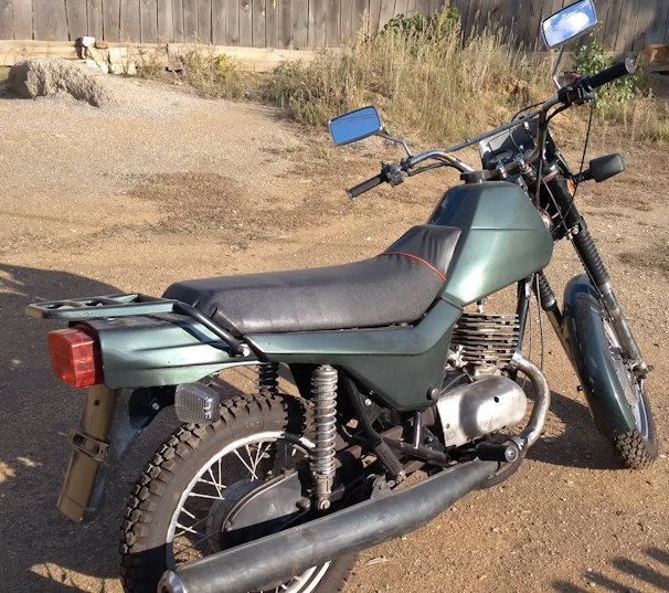 Металлический чехол на цепной передаче мотоцикла ЗИД Сова 200